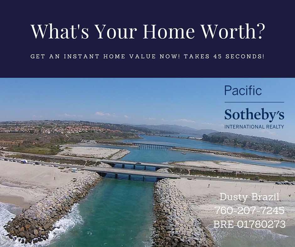 Find out what your home is worth in Carlsbad, La Costa, Aviara, Calavera Hills, Alga Hills, Rancho Carrillo, Bressi Ranch, Robertson Ranch, Carlsbad Village