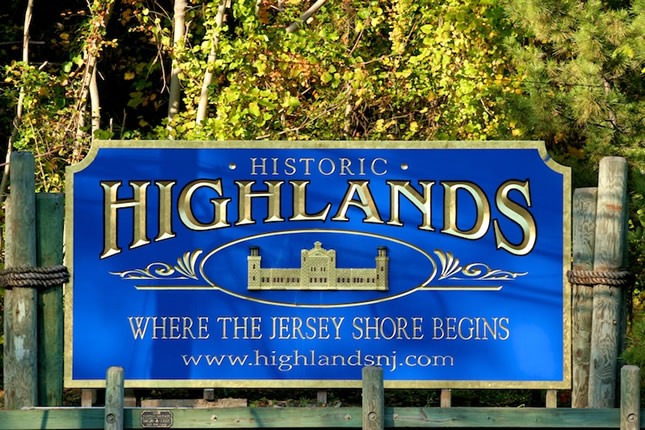 Highlands NJ Sign