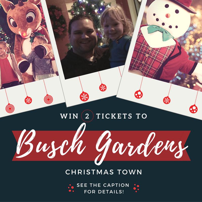 win tickets to busch gardens christmas town
