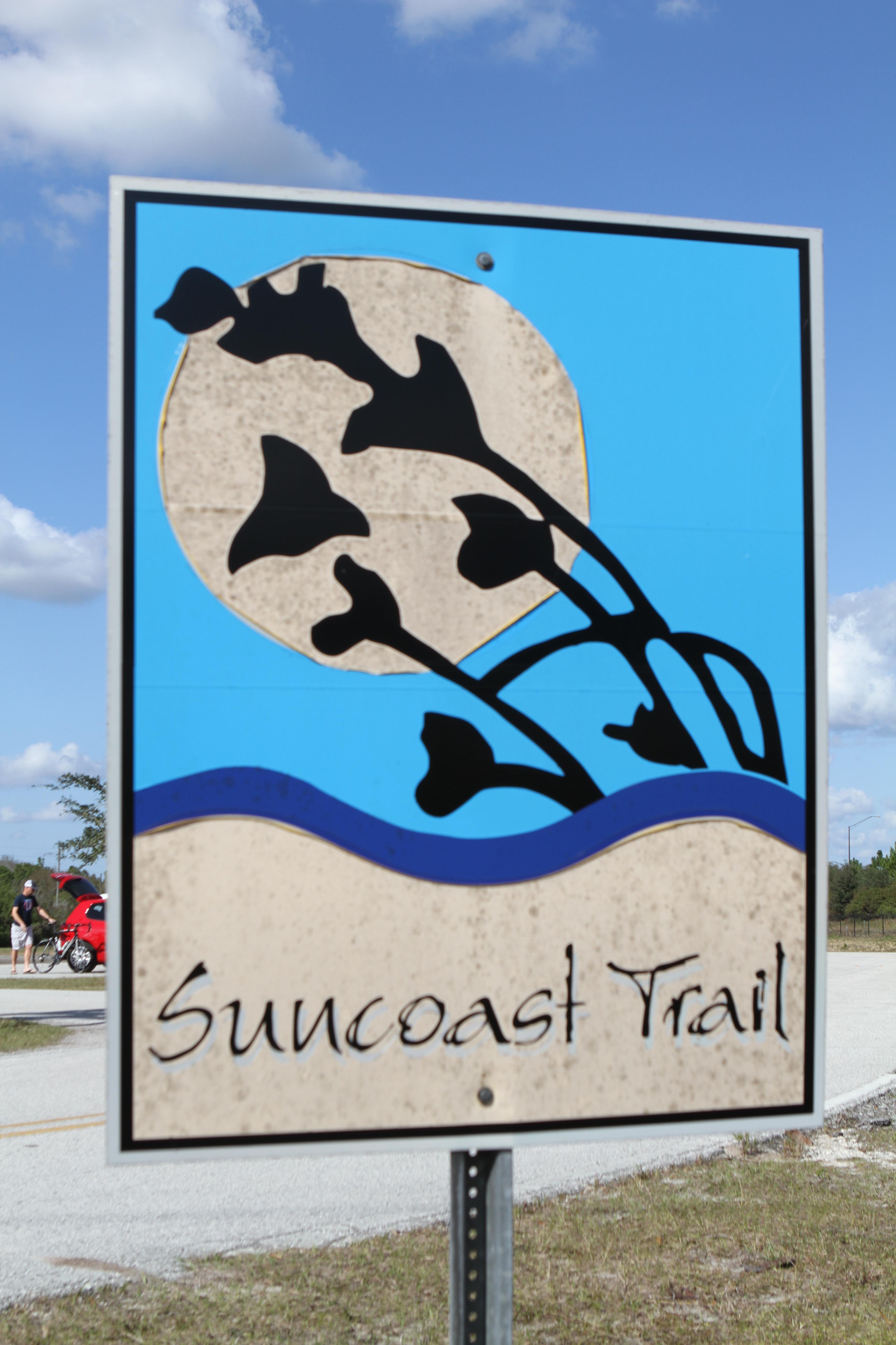 Suncoast trail sign