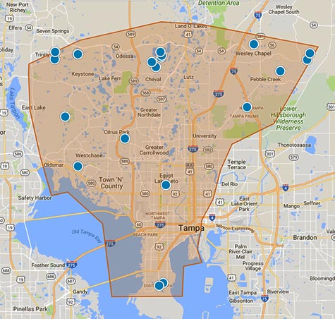 Tampa Home Searcher Default Search Area