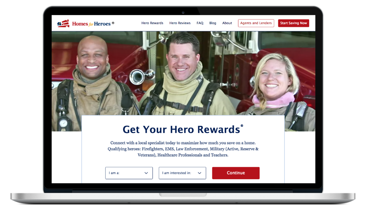 Homes For Heroes Rewards Program