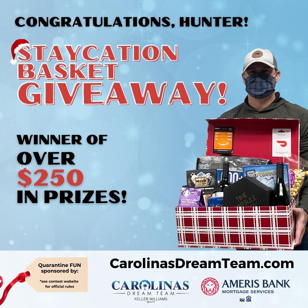 Staycation Basket Contest Giveaway Winner