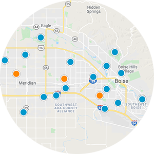 Northeast Boise Interactive Map Search