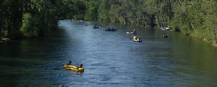 Floating Down Boise River