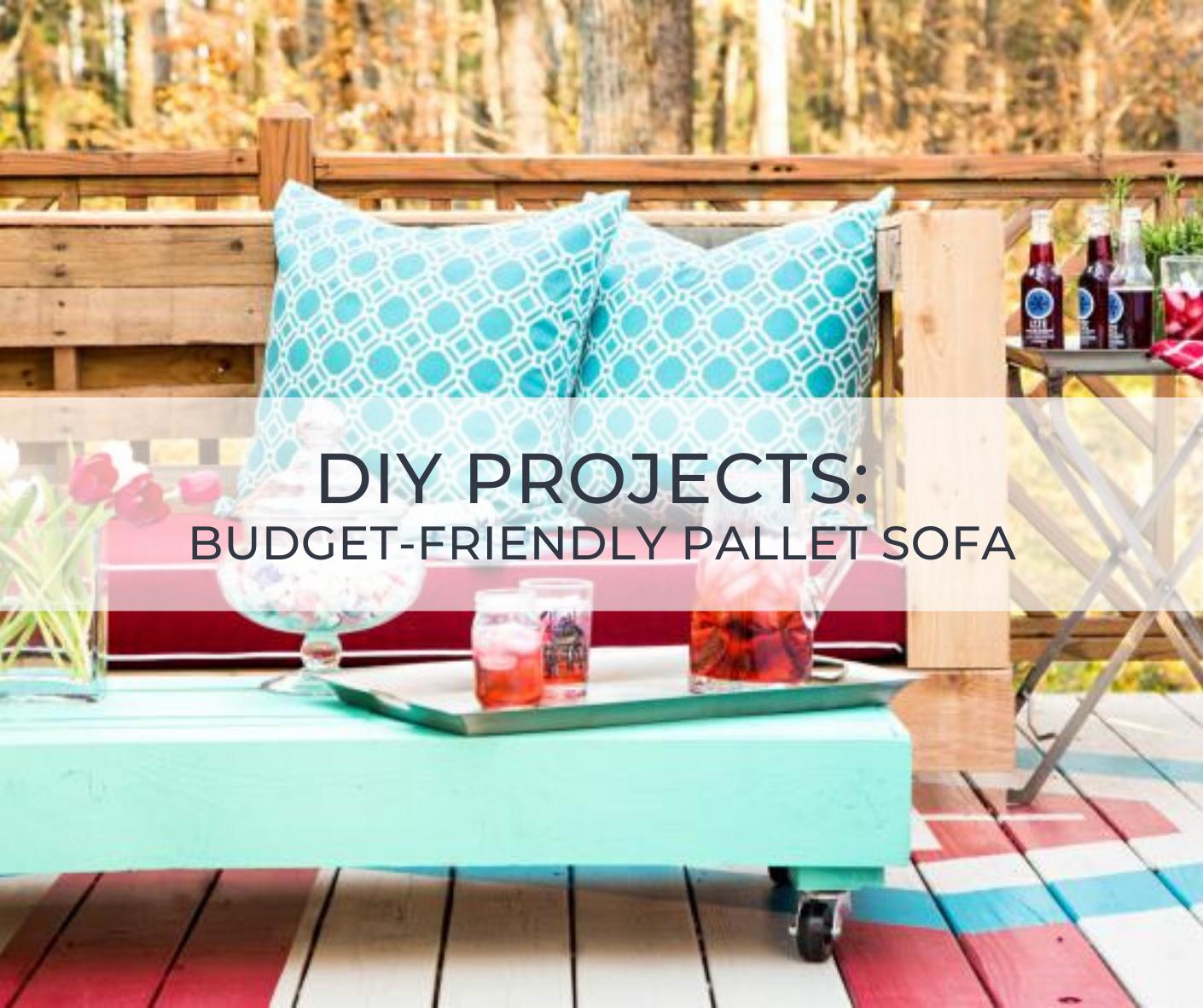 DIY Project Pallet Sofa
