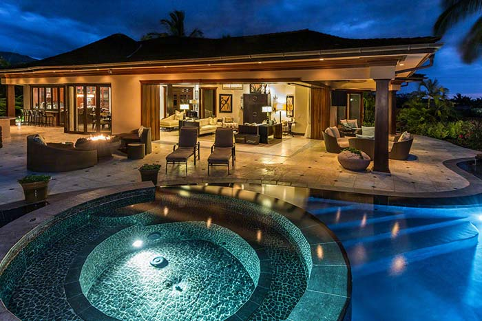 luxury home with pool in newport beach