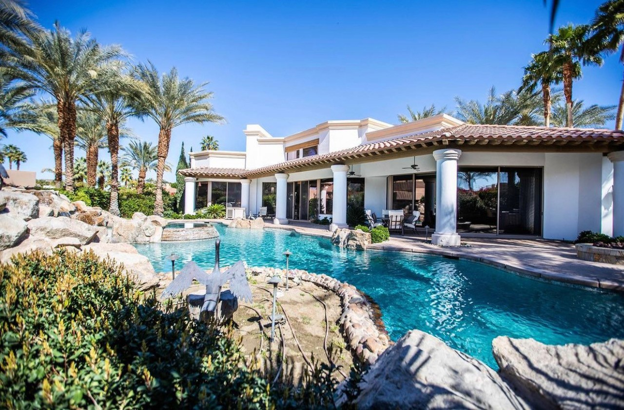 luxury home with pool in coachella valley
