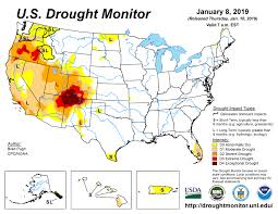 US Drought Monitor And Summary For January 2019 | Texas Premier Ranch Realty | Texas Hill Country and South Texas Ranches for Sale