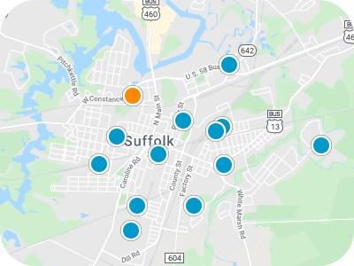 Hampton Roads Real Estate Map Search