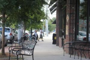 Street scene in Kirkwoods bustling business district
