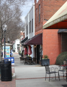 Picture of typical Historic Norcross Square shops