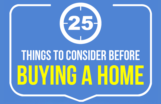 25 Things to Consider Before Buying A Home