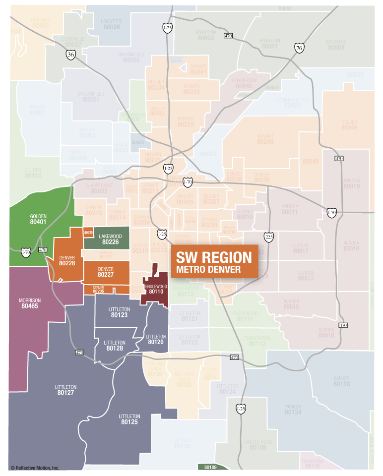 Southwest Suburban Denver Communities Zip Code