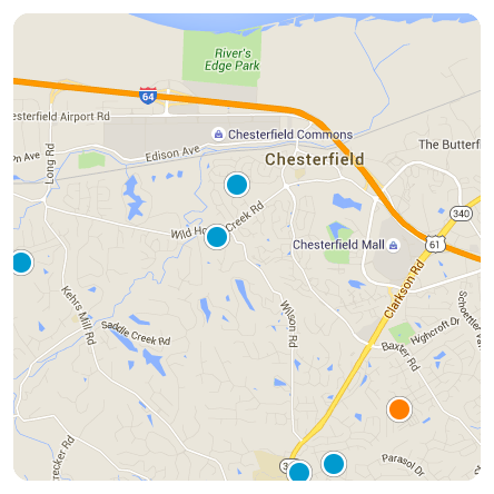 Chesterfield Map Search