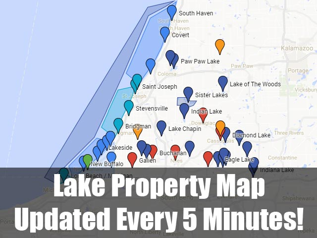 Southwest Michigan Lake Property Map