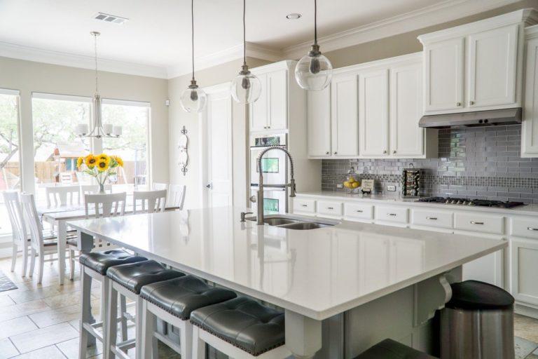 Luxurious kitchen interior.
