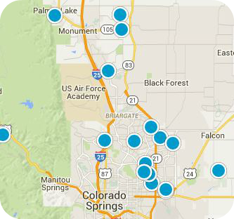 Monument CO Real Estate Map
