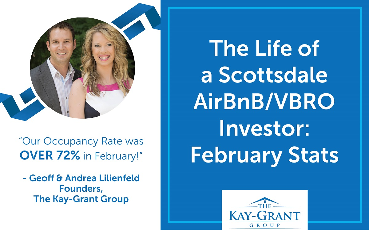 February Scottsdale Airbnb VRBO Stats