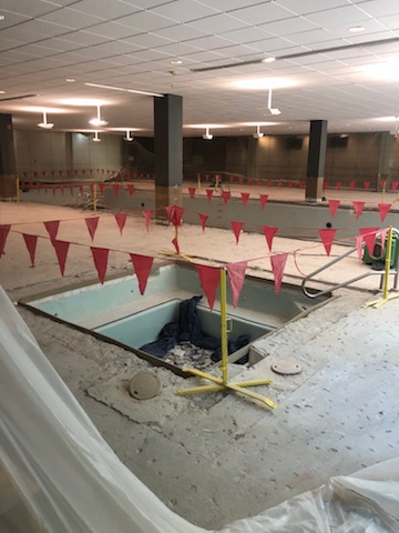 Optima Indoor Pool Under Construction