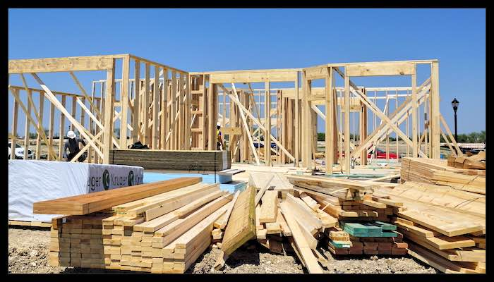 Framing a new texas home