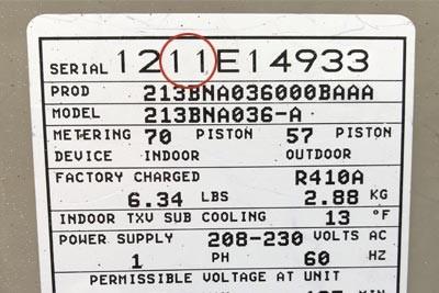HVAC Label