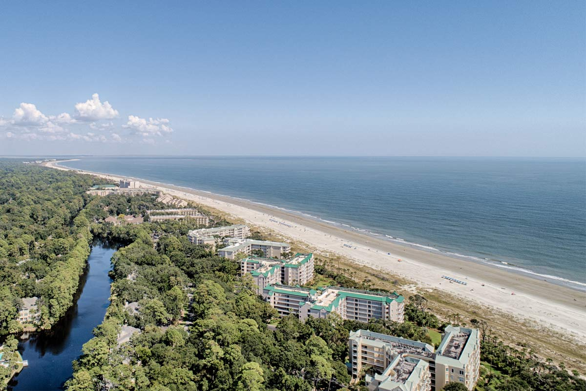 The oceanfront section of Palmetto Dunes
