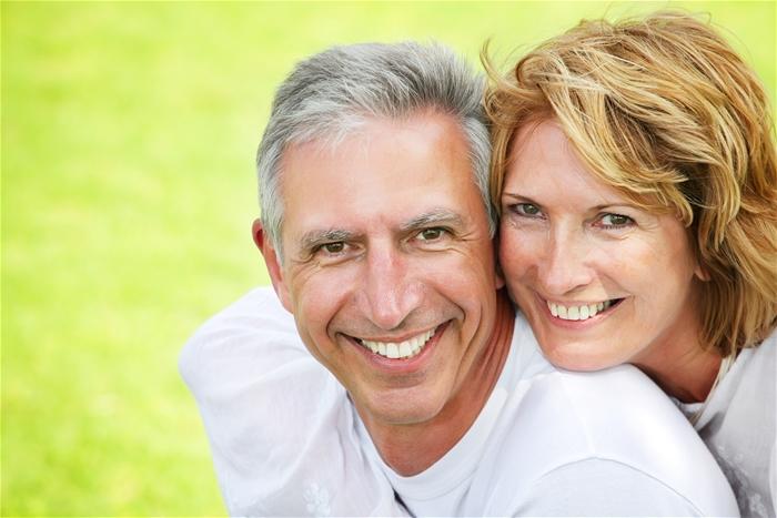 happy couple ready to retire