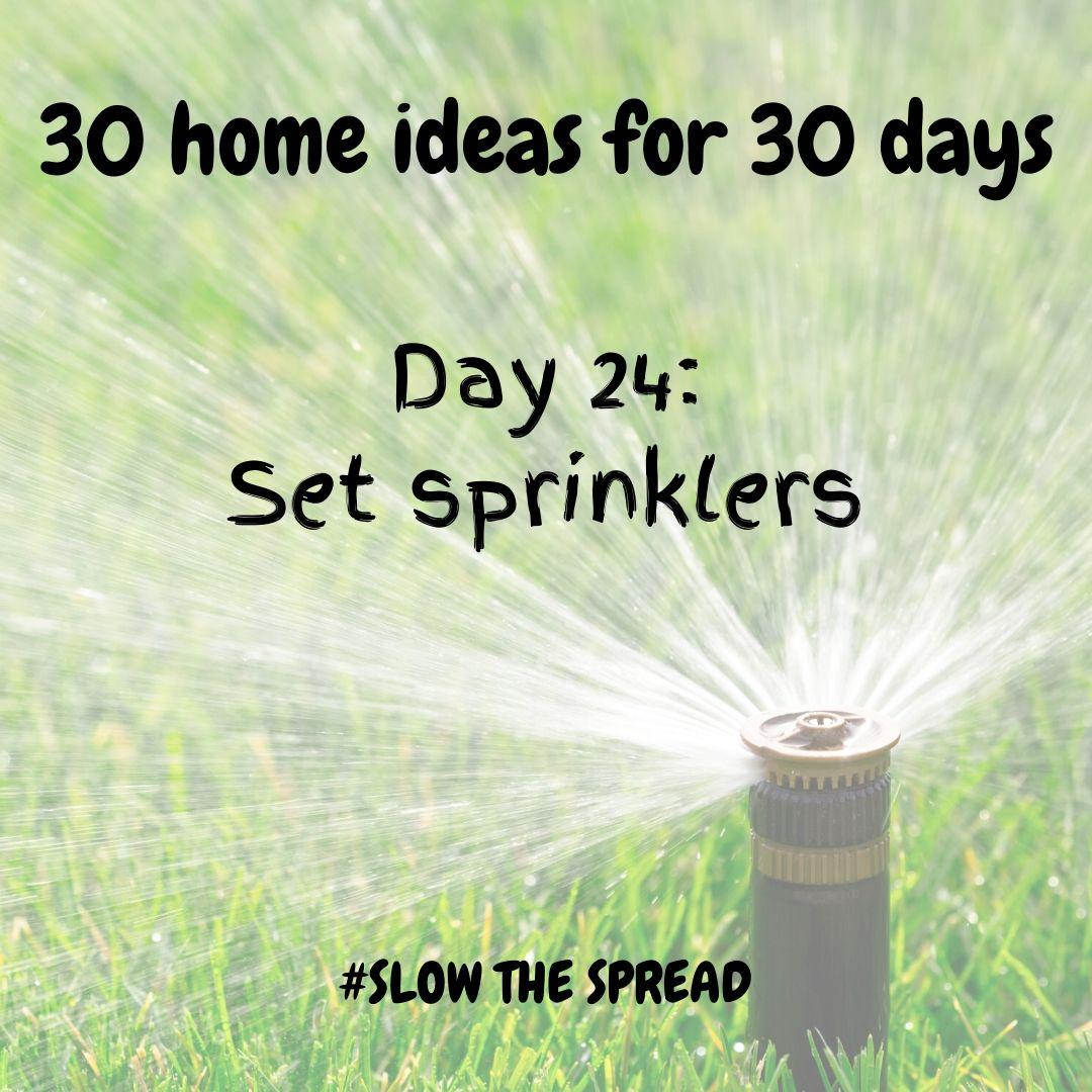 Day 24 set sprinkler