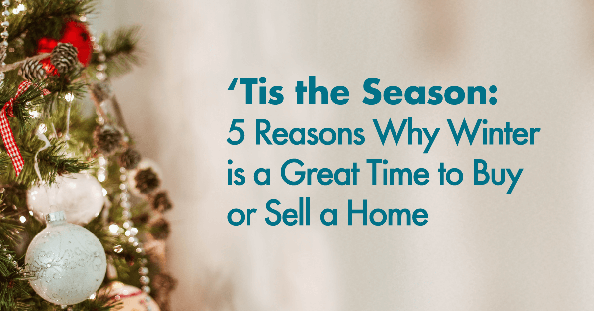 winter is the best time to buy or sell a home
