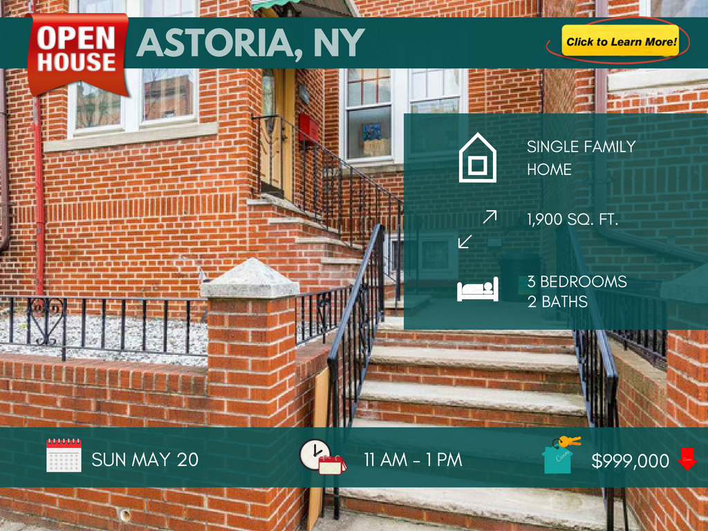 Single family house for sale in Astoria Queens