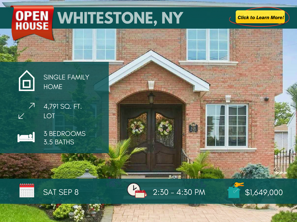 luxury colonial home in Whitestone queens