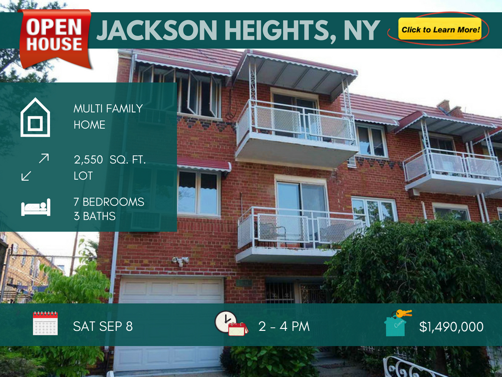 2 family home for sale in Jackson Heights