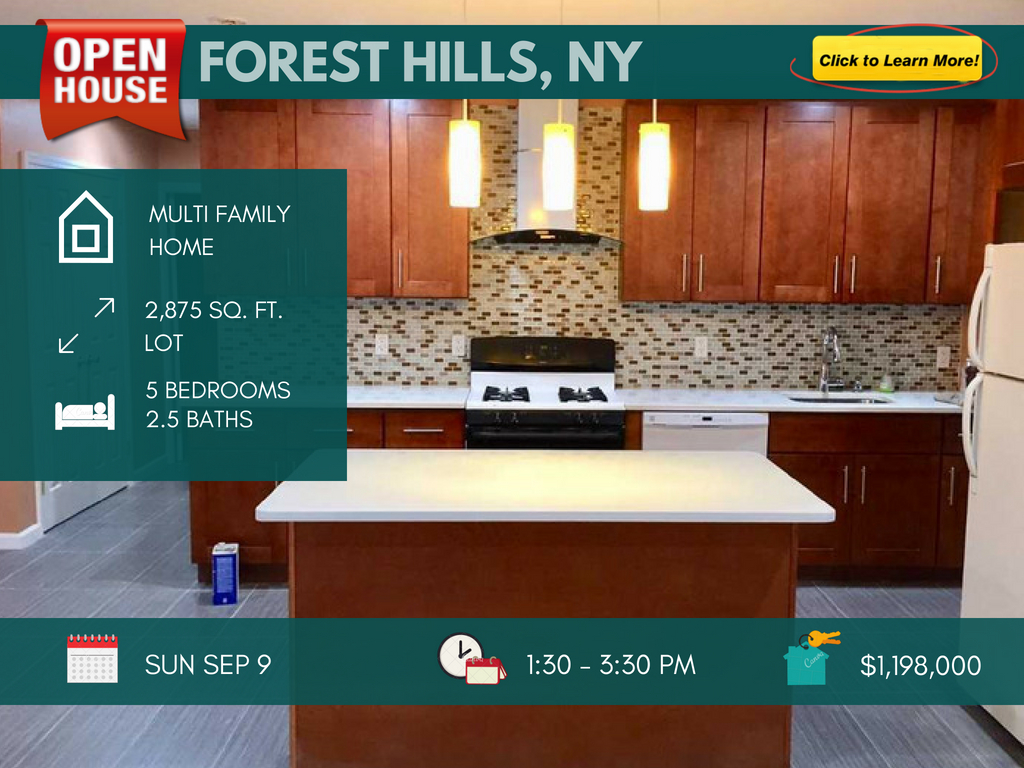 2 family home for sale in forest hills NY