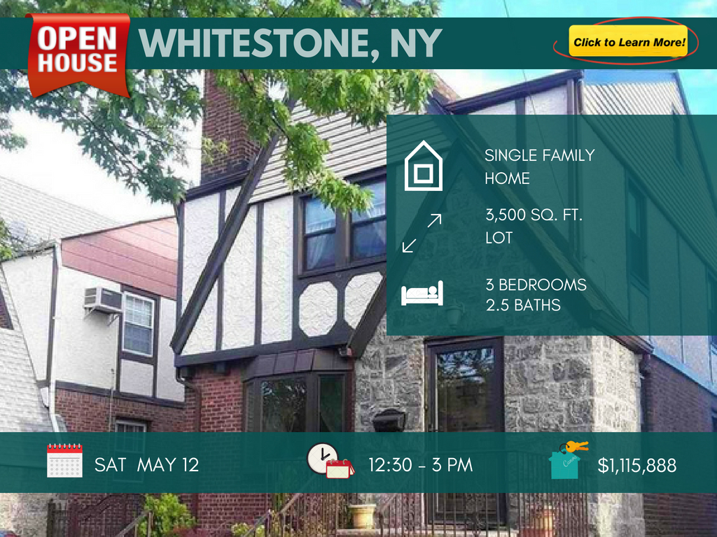 Tudor style house for sale in Whitestone NY