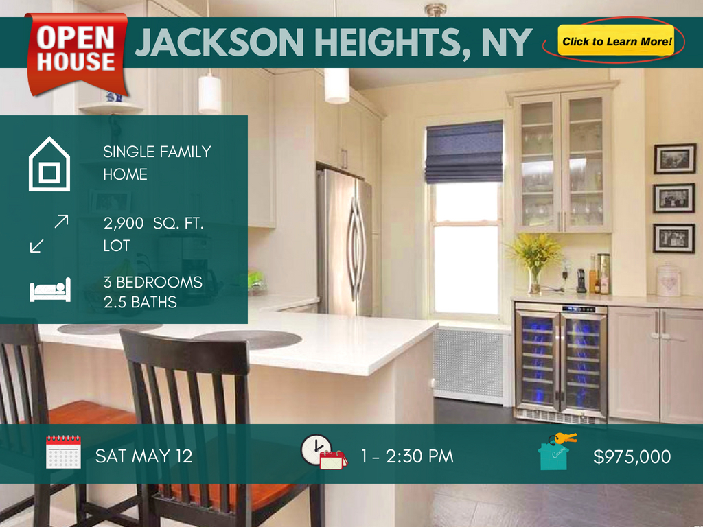 Jackson heights house for sale