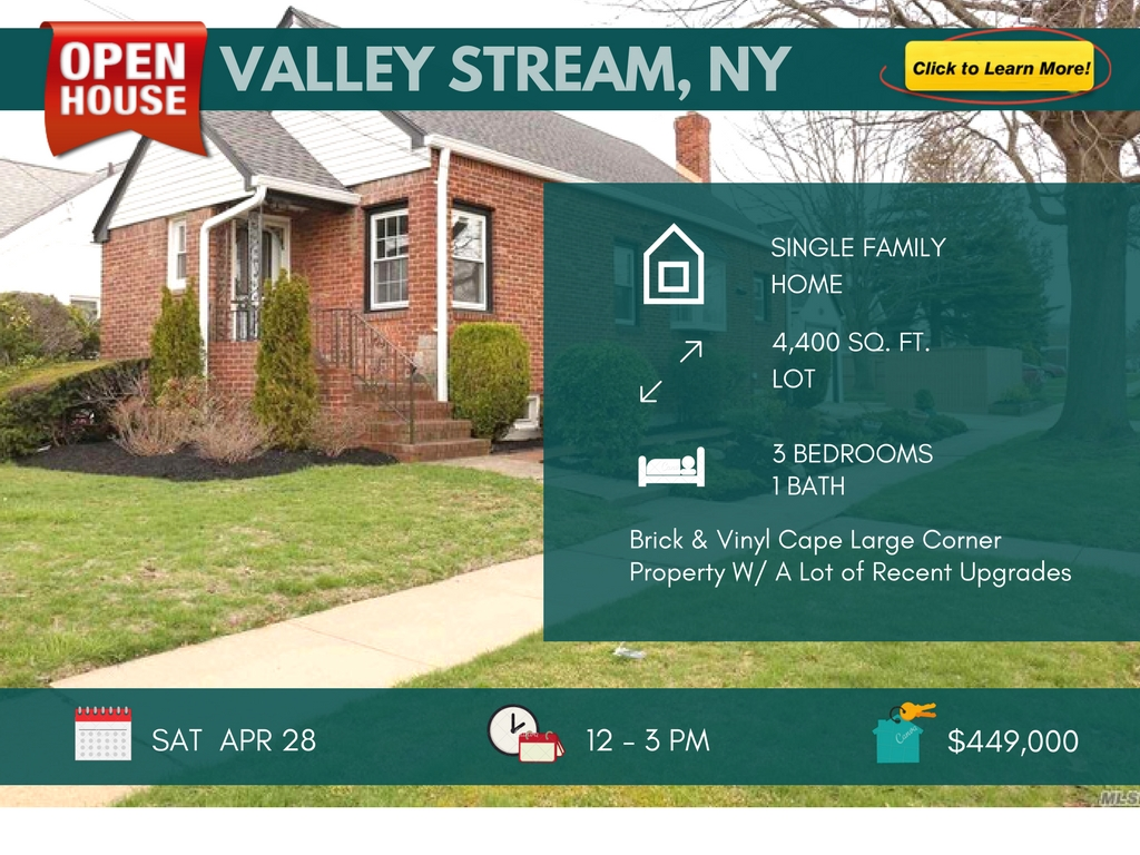 3 Bedroom House for Sale in Valley Stream, NY