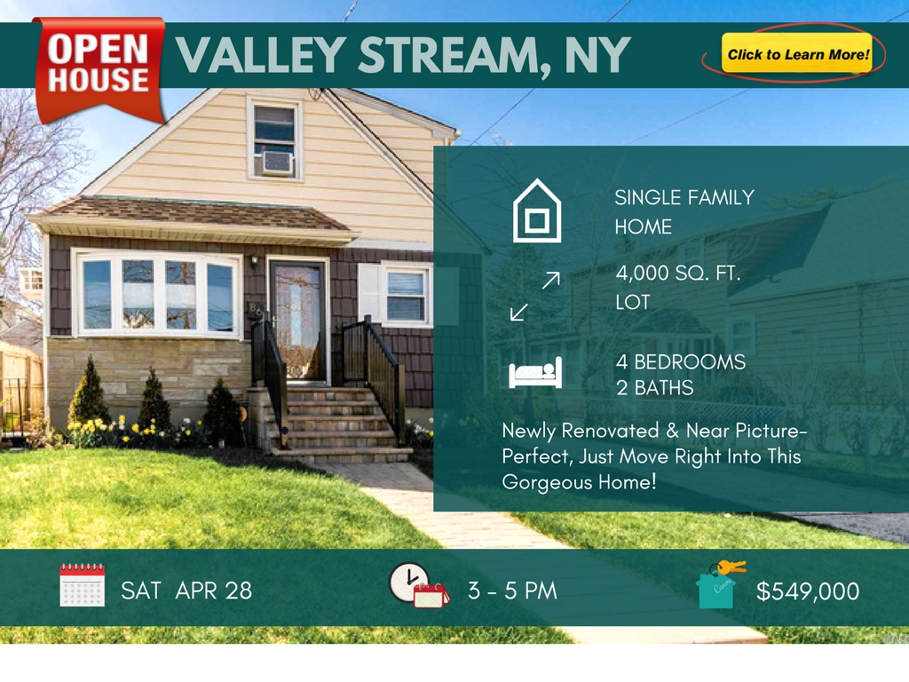 4 Bedroom House For Sale In Valley Stream, NY