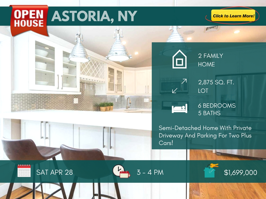 2 Family Astoria Queens House for Sale