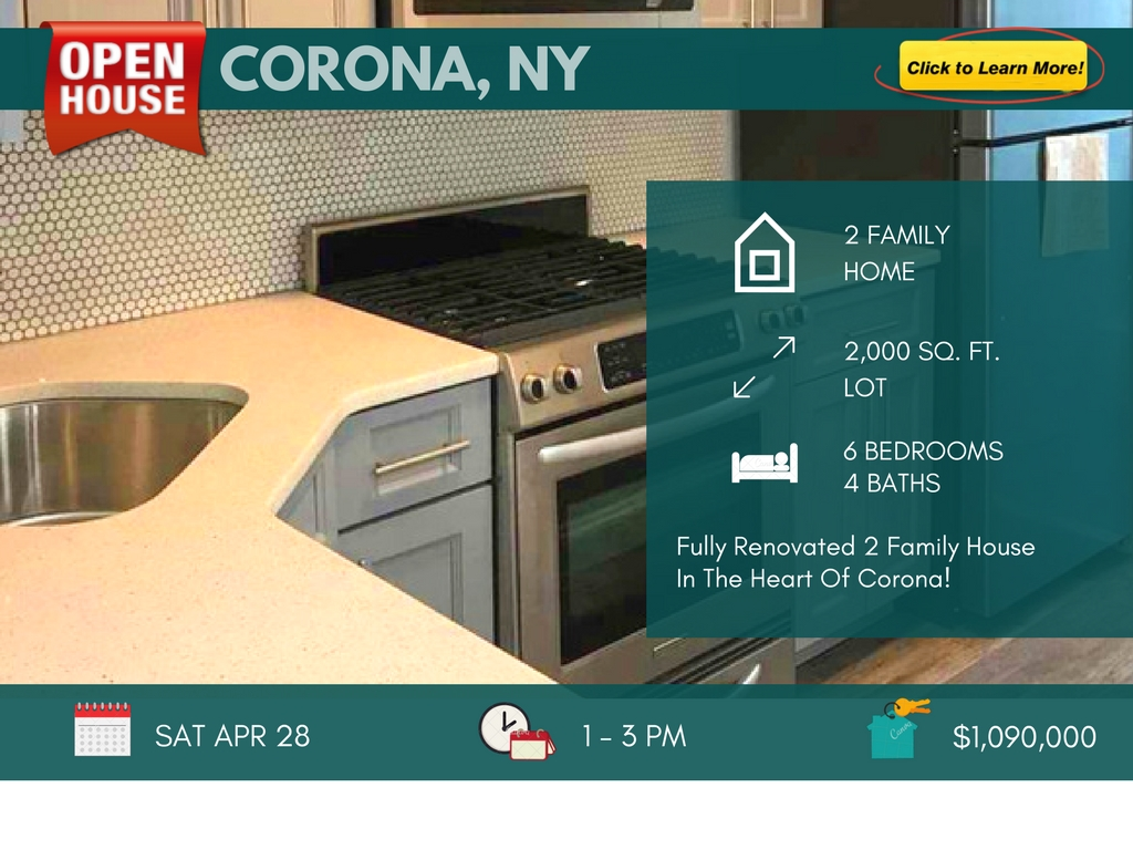 2 Family House for Sale in Corona Queens