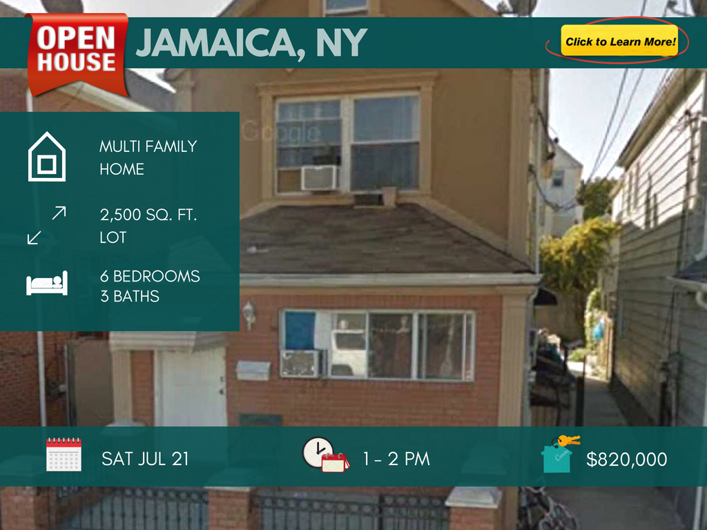 Jamaica queens new construction 2 family for sale