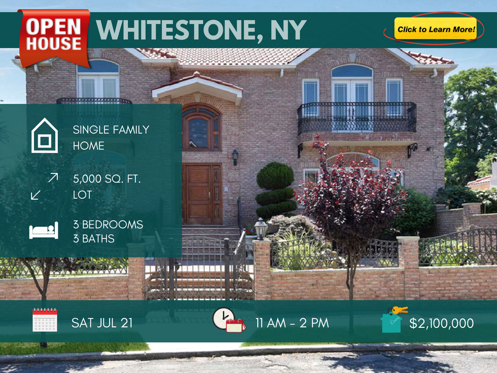 Custom Built Center Hall Colonial for sale in Whitestone ny