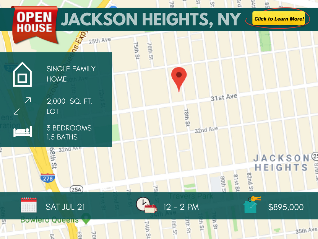 Jackson heights single family for sale