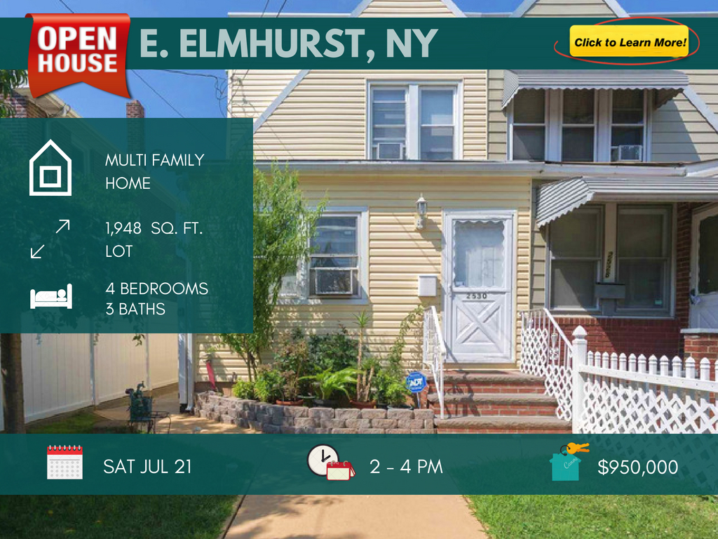 east elmhurst 2 family for sale