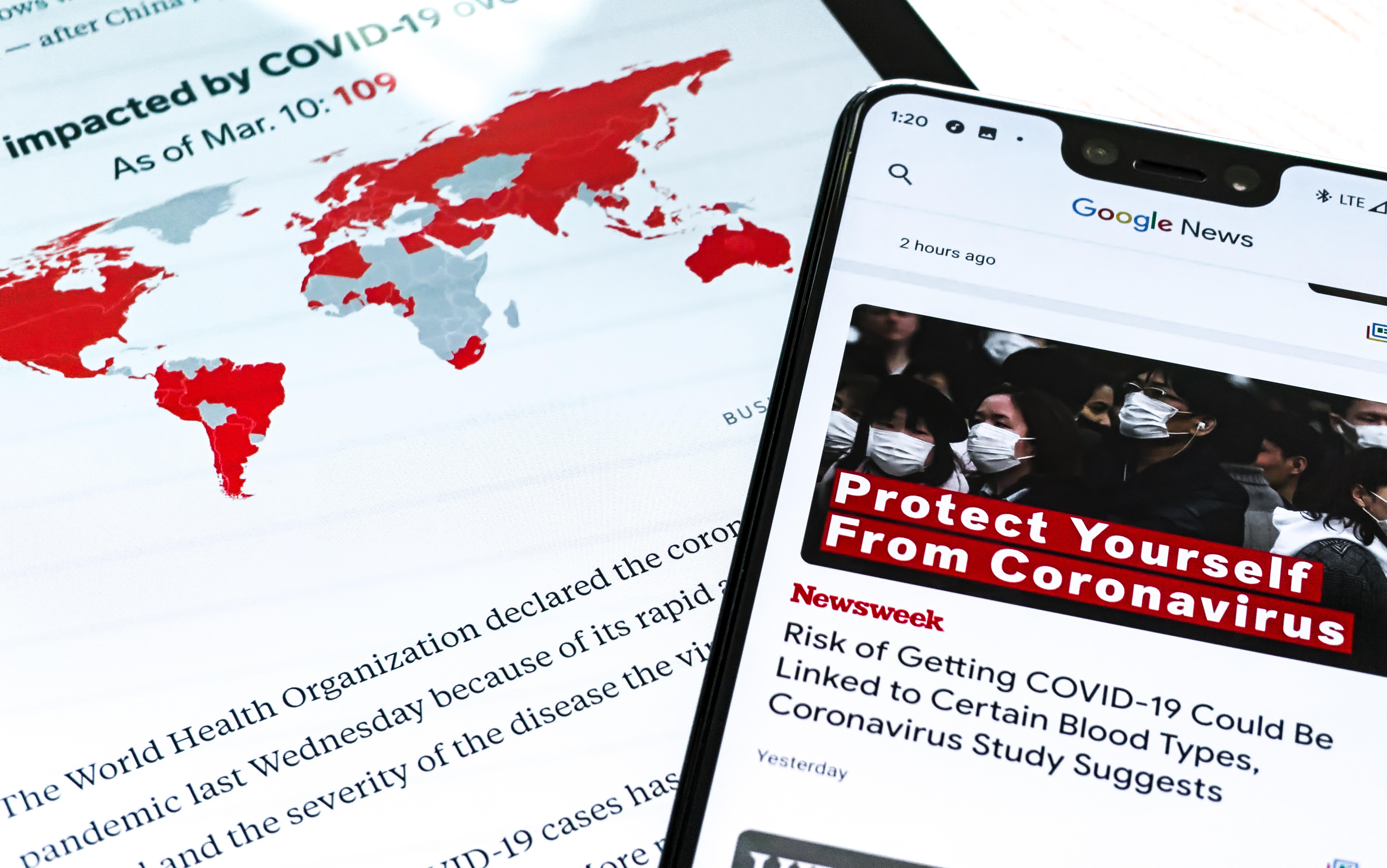 anxiety over coronavirus and economy