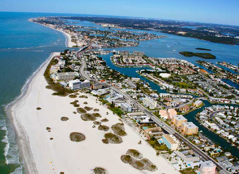 Treasure Island aerial view