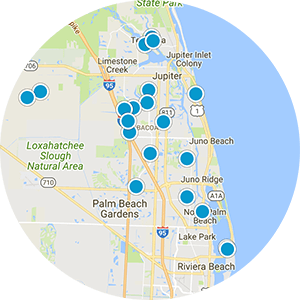 Palm Beach Gardens Waterfront Real Estate Map Search