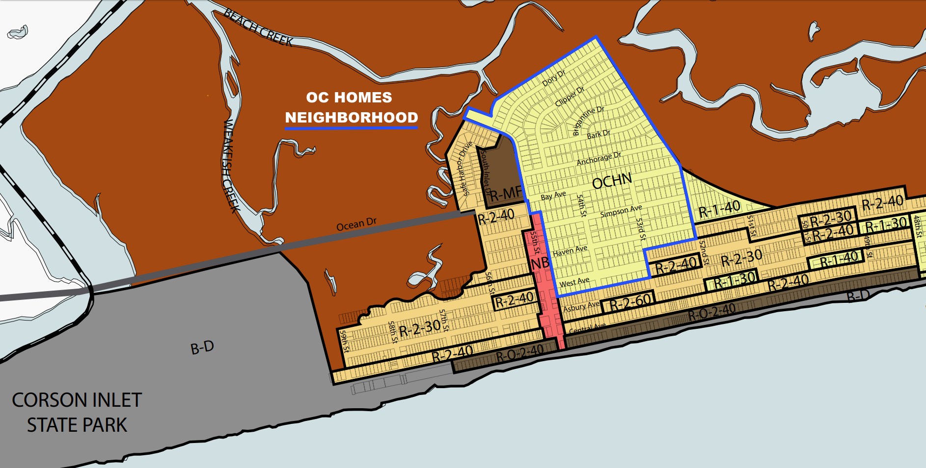 OCNJ OC Homes Map
