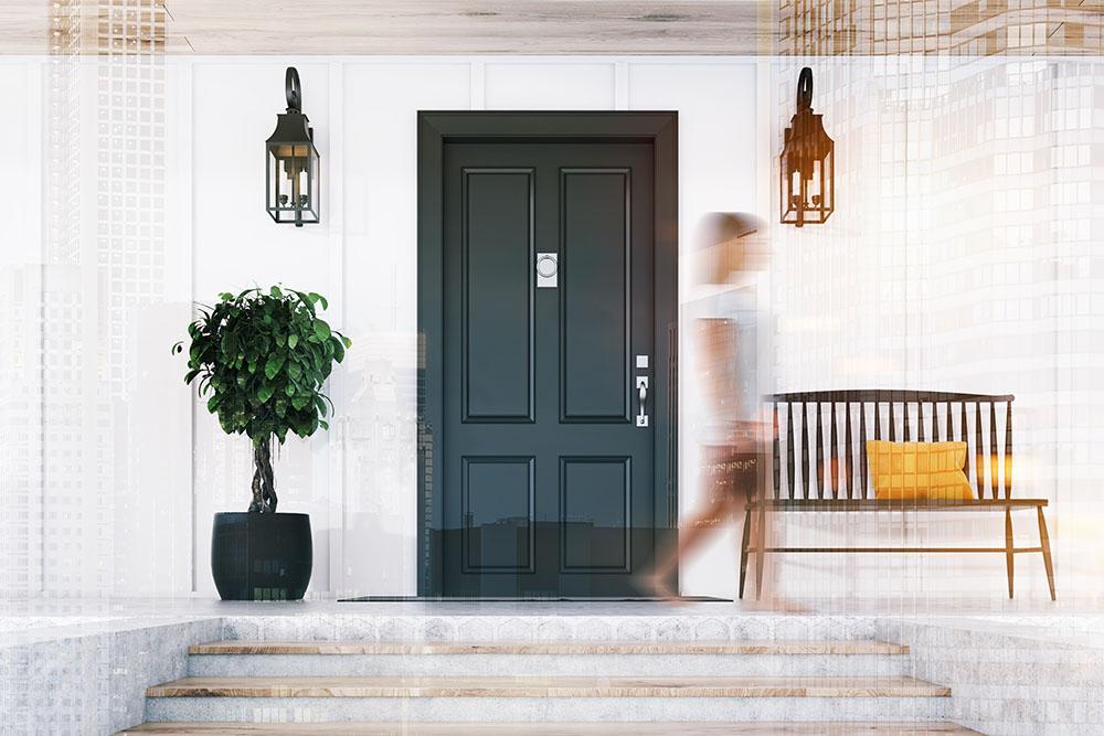 attractive front porch