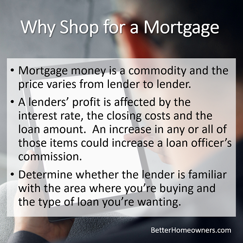 Why shop for a mortgage